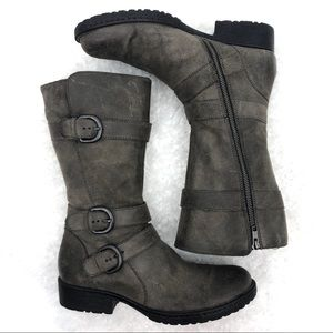 Born Women's Distressed Suede Mid Calf Boots